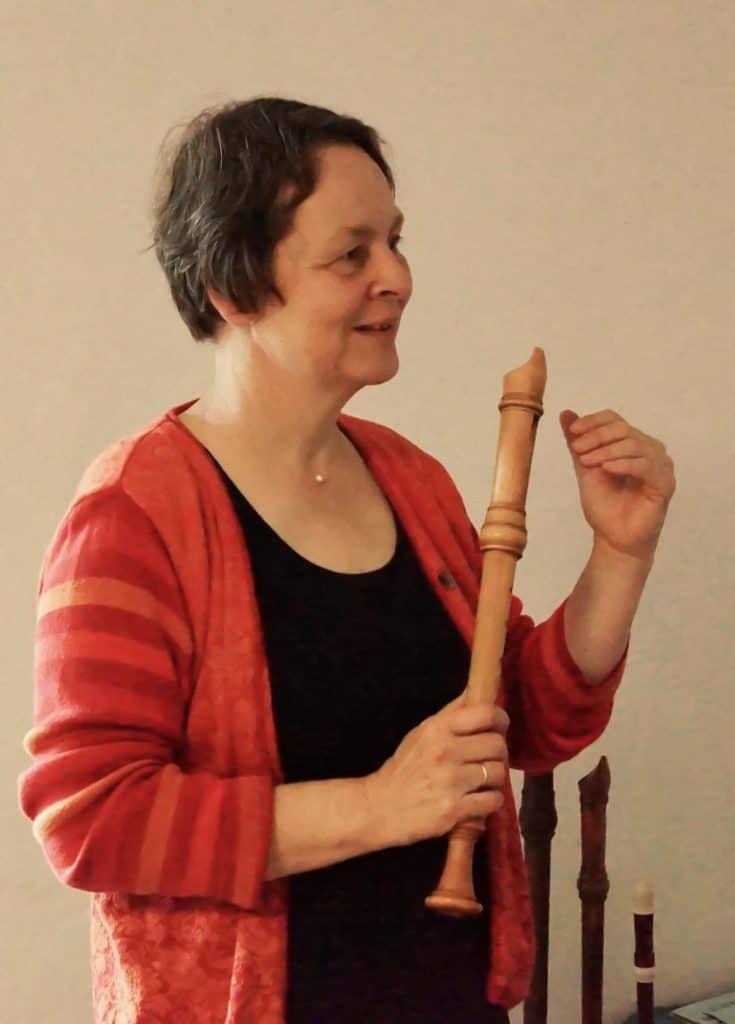 Christiane Stephan-Walker beim Unterrichten